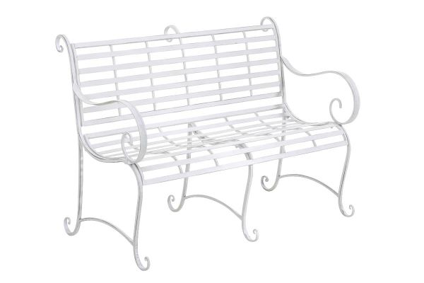 Banc antique de jardin en fer forgé ROY